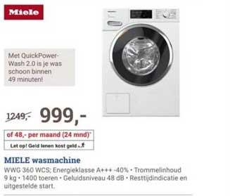 BCC Miele Wasmachine