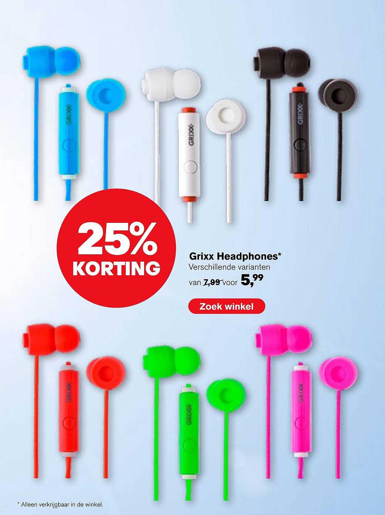 AKO Grixx Headphones 25% Korting