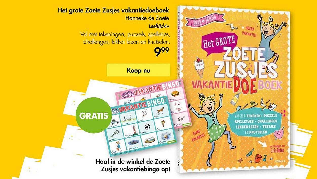 The Read Shop Het Grote Zoete Zusjes Vakantiedoeboek Hanneke De Zoete