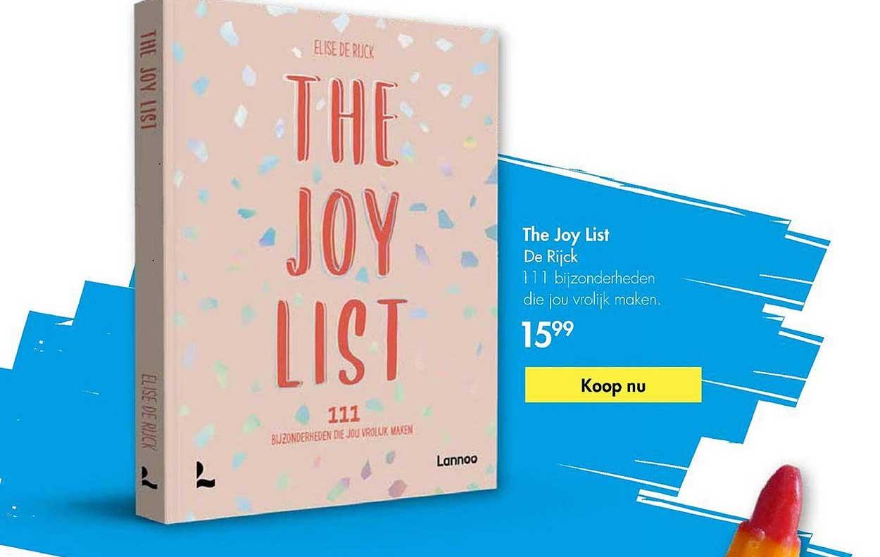 The Read Shop The Joy List - De Rijck