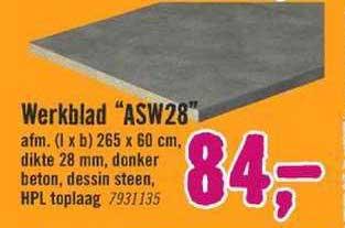 Hornbach Werkblad ASW28