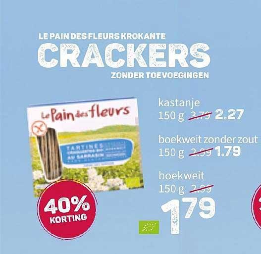 Ekoplaza Le Pain Des Fleurs Krokante Crackers Zonder Toevoegingen 40% Korting