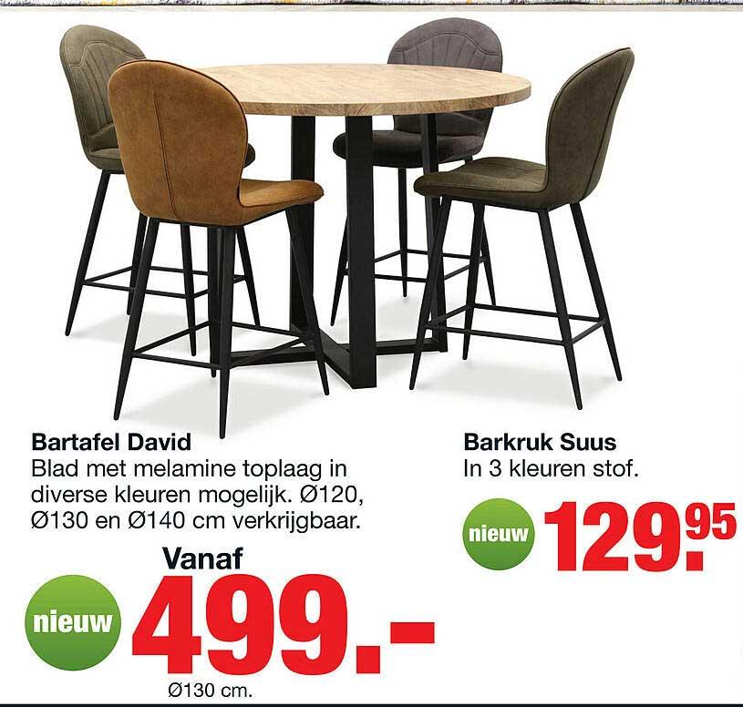 Budget Home Store Bartafel David Of Barkruk Suus