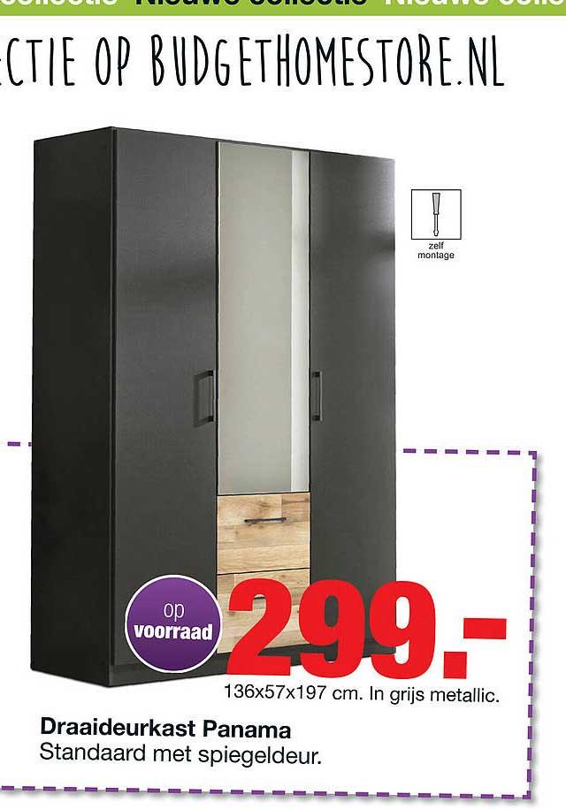 Budget Home Store Draaideurkast Panama 136x57x197 Cm