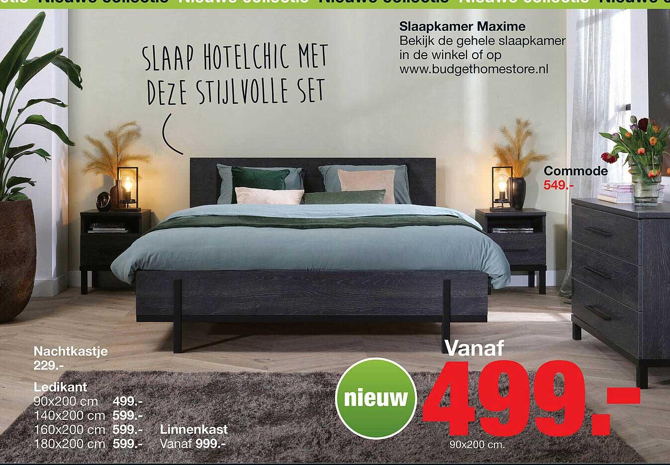 Budget Home Store Slaapkamer Maxime Nachtkastje, Commode