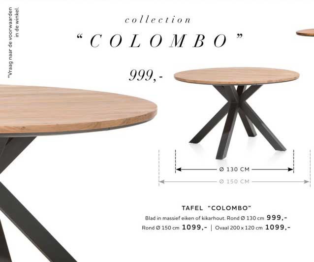 Xooon Tafel Colombo