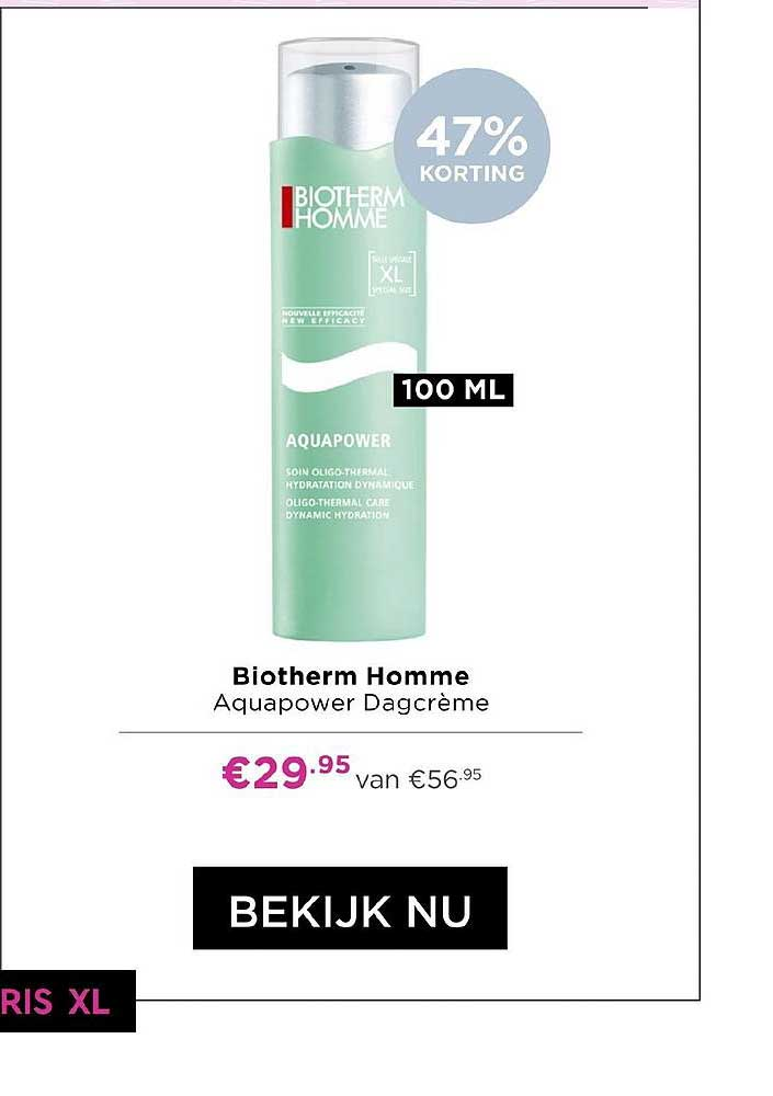 ICI PARIS XL Biotherm Homme Aquapower Dagcreme 47% Korting