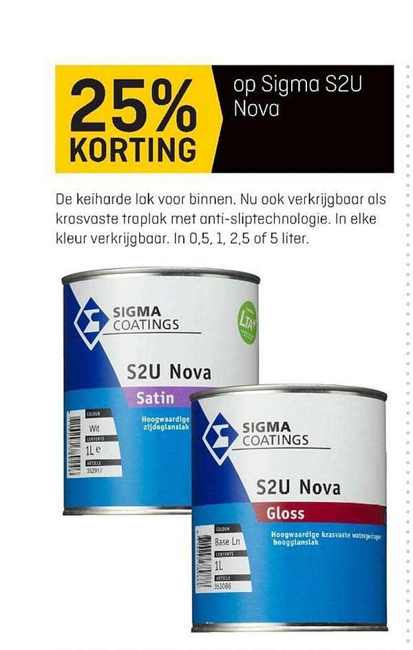 Hubo Op Sigma S2U Novo 25% Korting