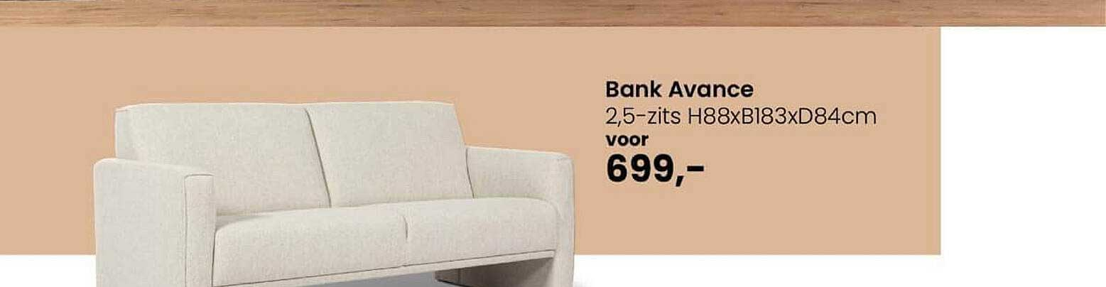 De Bommel Meubelen Bank Avance 2,5-Zits