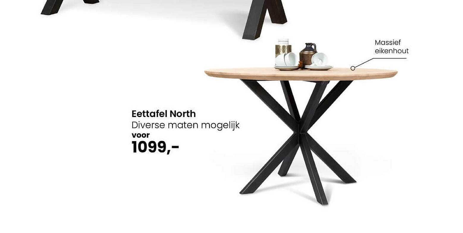 De Bommel Meubelen Eettafel North