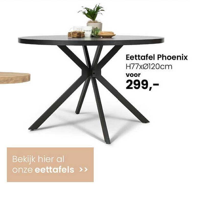 De Bommel Meubelen Eettafel Phoenix