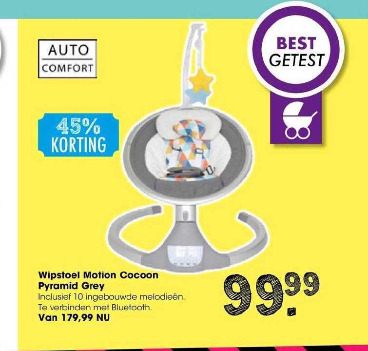 Van Asten Wipstoel Motion Cocoon Pyramid Grey 45% Korting