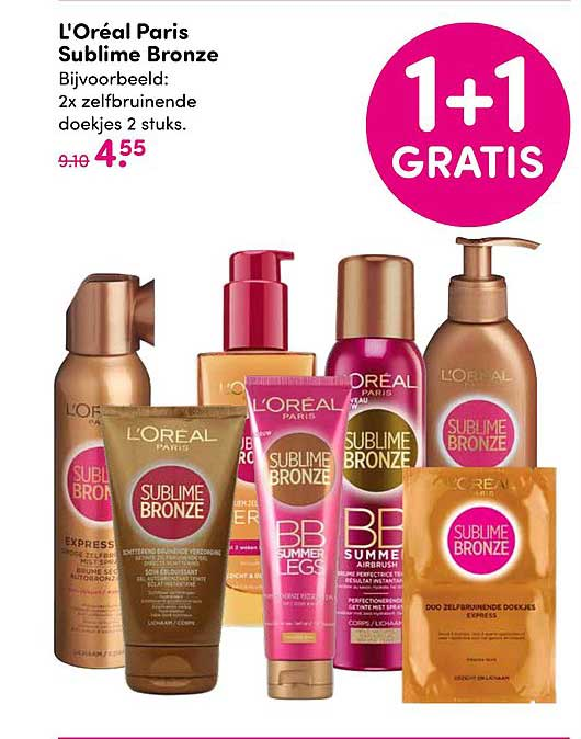 DA L'oreal Paris Sublime Bronze: 1+1 Gratis