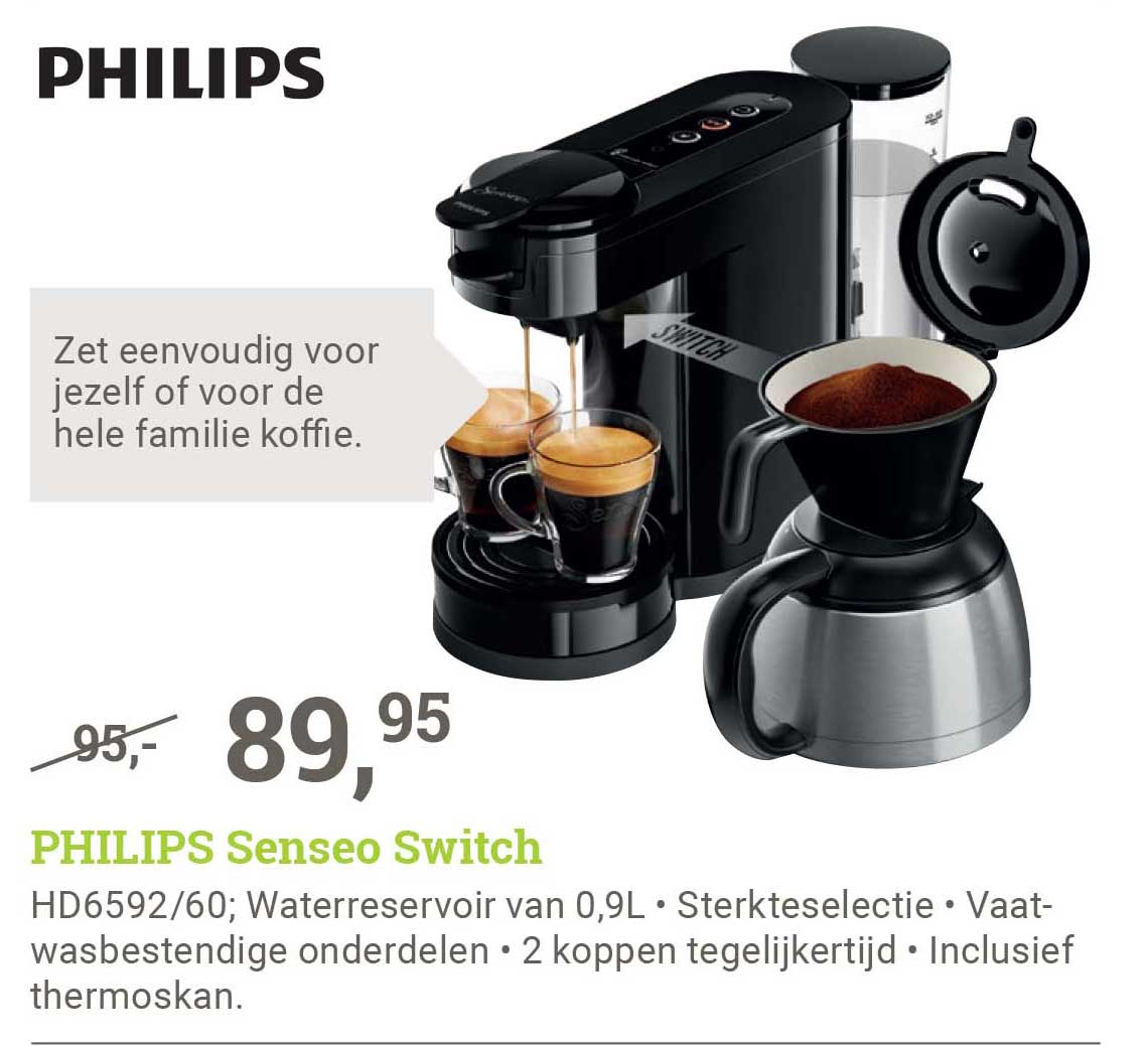 BCC Philips Senseo Switch