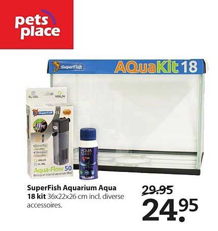 Pets Place Superfish Aquarium Aqua 18 Kit