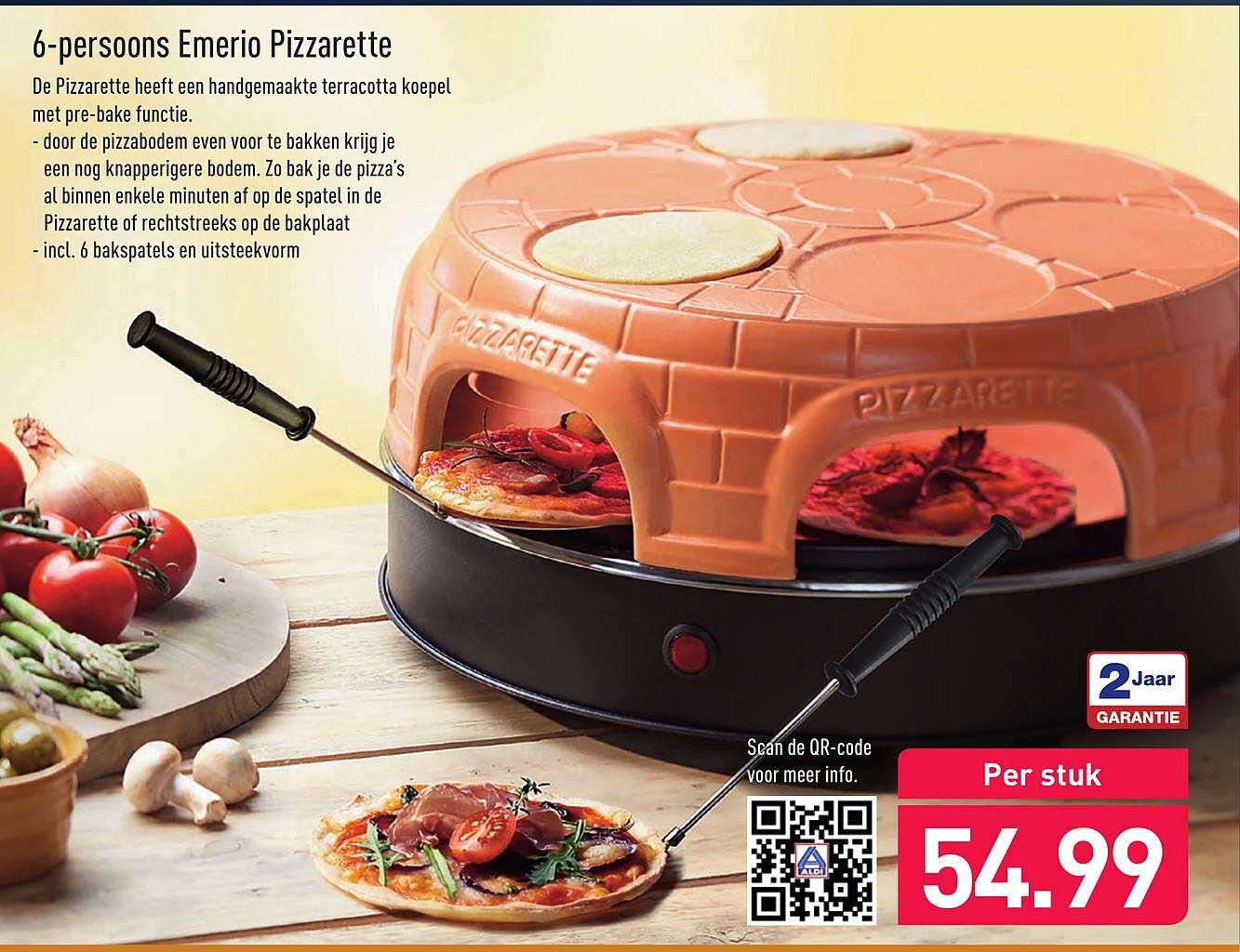 ALDI 6-Persoons Emerio Pizzarette