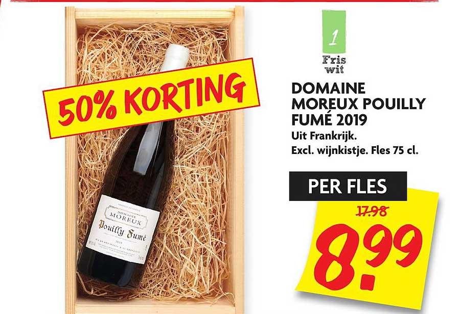 DekaMarkt Domaine Moreux Pouilly Fume 2019 50% Korting