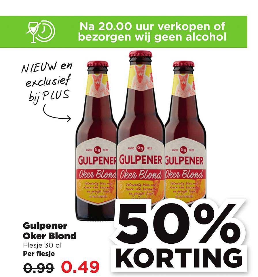 PLUS Gulpener Oker Blond 50% Korting