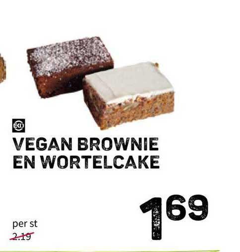 Ekoplaza Vegan Brownie En Wortelcake