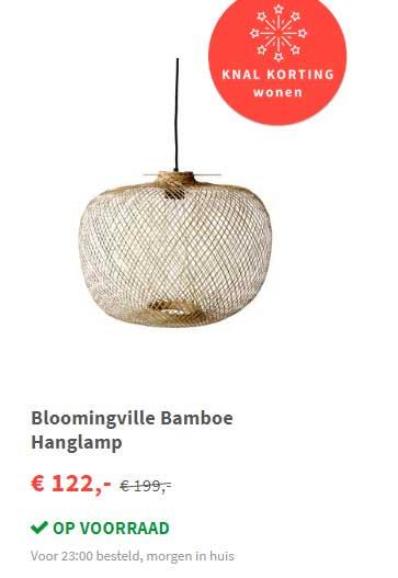 FonQ Bloomingville Bamboe Hanglamp