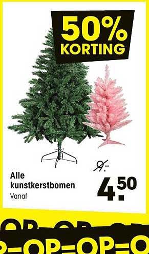 Kwantum Alle Kunstkerstbomen: 50% Korting