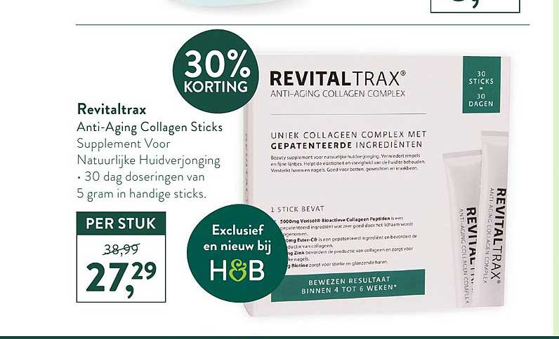 Holland Barrett Revitaltrax 30% Korting