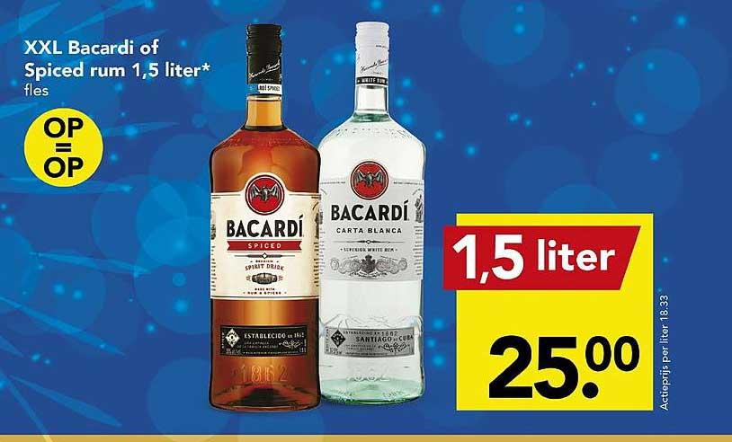 DEEN XXL Bacardi Of Spiced Rum 1,5 Liter
