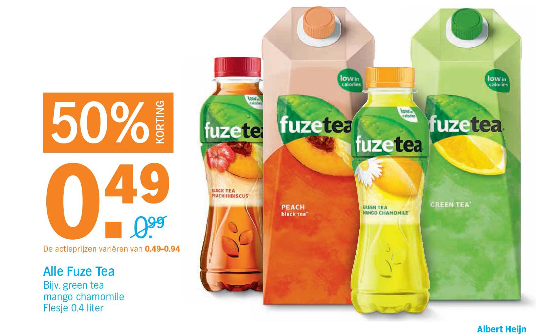 Albert Heijn Alle Fuze Tea: 50% Korting