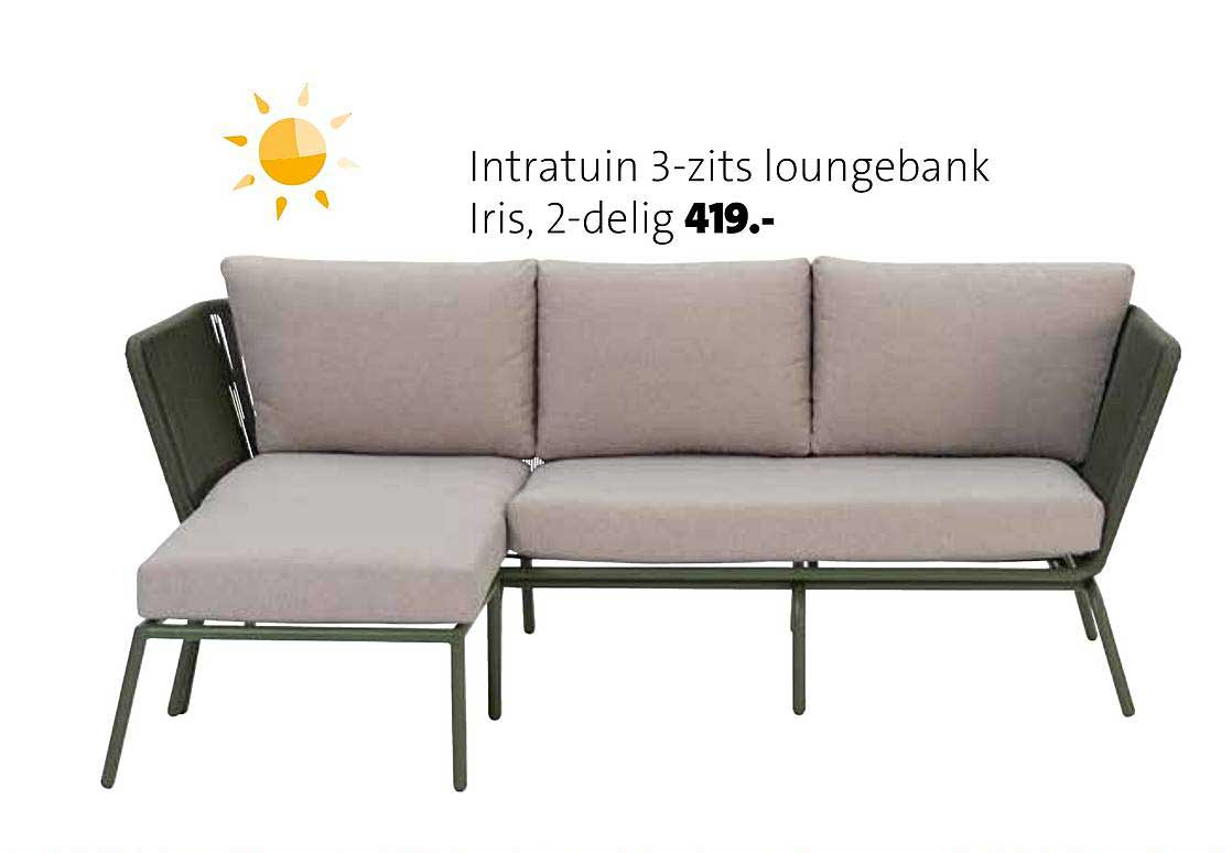 Intratuin Intratuin 3 Zits Loungebank Iris