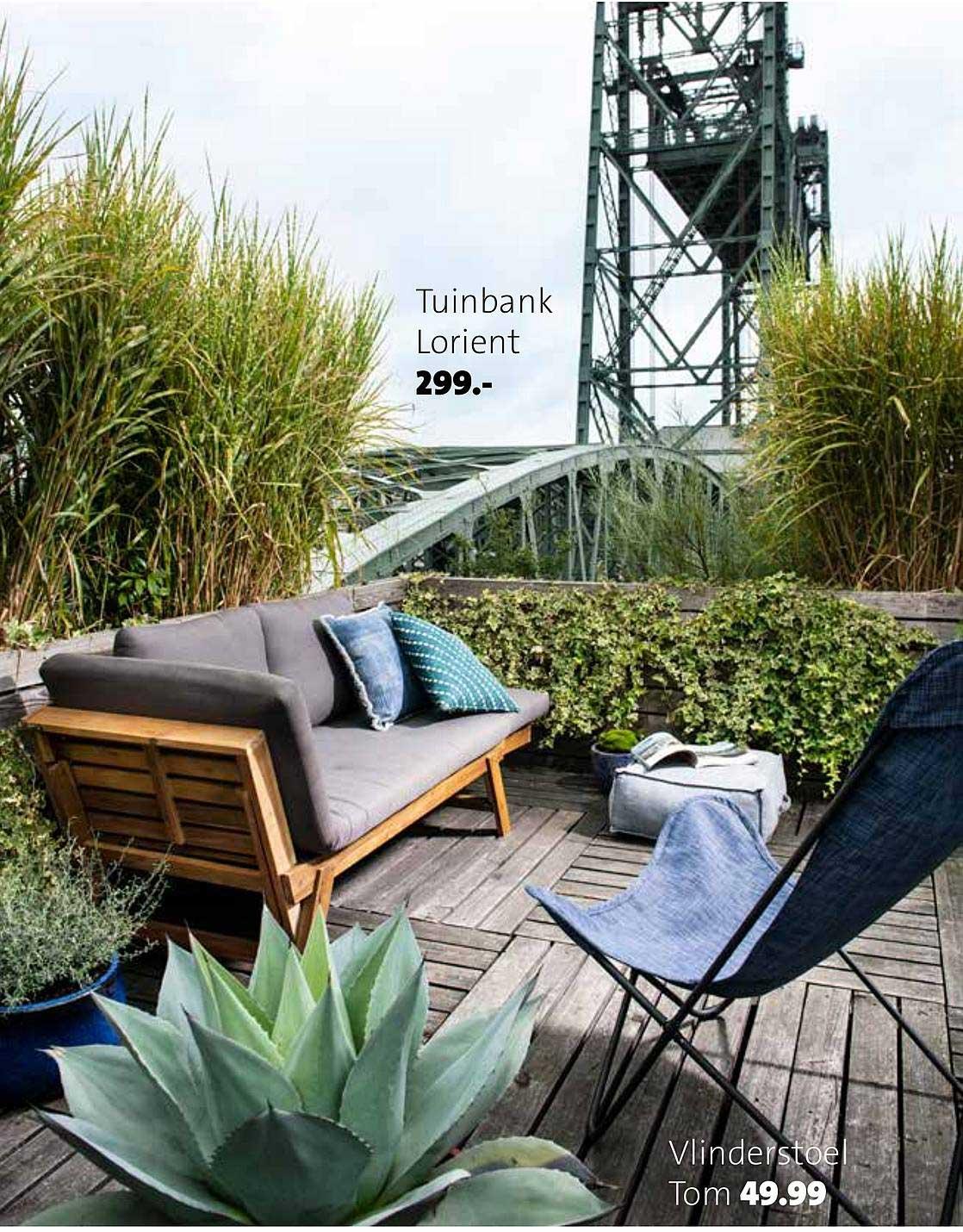 Intratuin Tuinbank Lorient En Vlinderstoel Tom