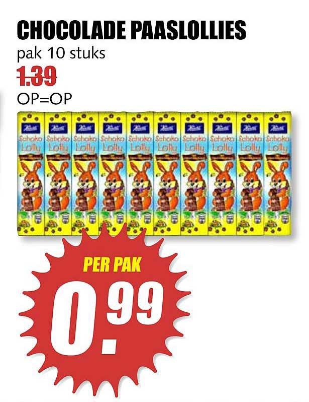 MCD Supermarkt Chocolade Paaslollies
