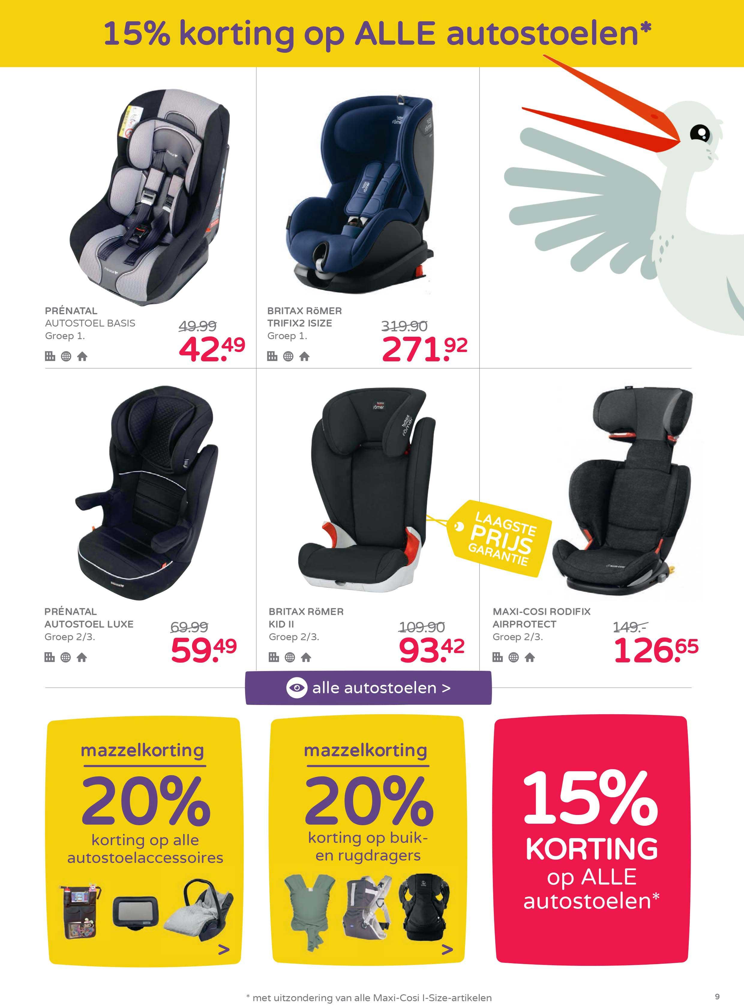 Prénatal 15% Korting Op ALLE Autostoelen