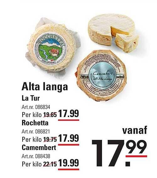 Sligro Alta Langa La Tur, Rochetta Of Camembert