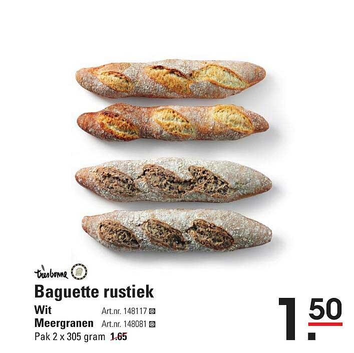 Sligro Baguette Rustiek Wit Of Meergranen