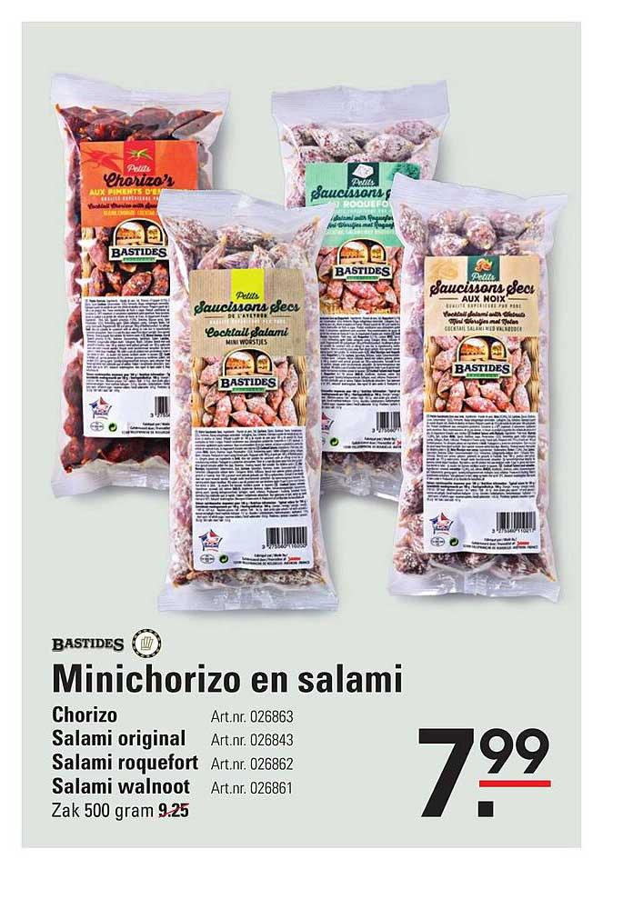 Sligro Bastides Minichorizo En Salami