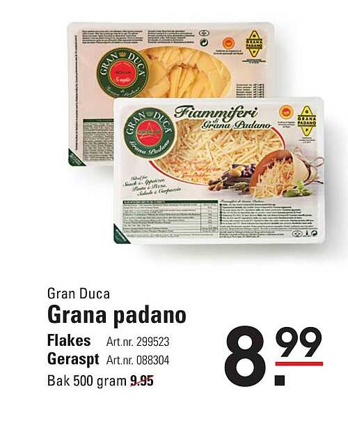 Sligro Gran Duca Granan Padano Flakes Of Geraspt