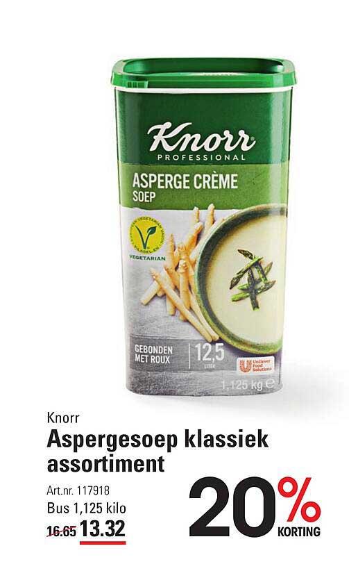 Sligro Knorr Aspergesoep Klassiek Assortiment 20% Korting