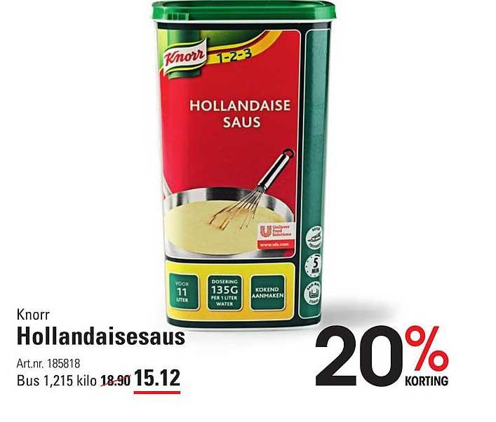 Sligro Knorr Hollandaisesaus 20% Korting