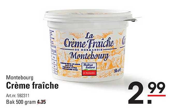 Sligro Montebourg Crème Fraîche