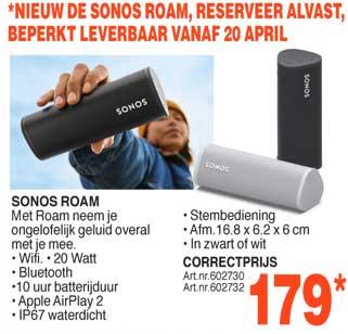 Correct Sonos Roam