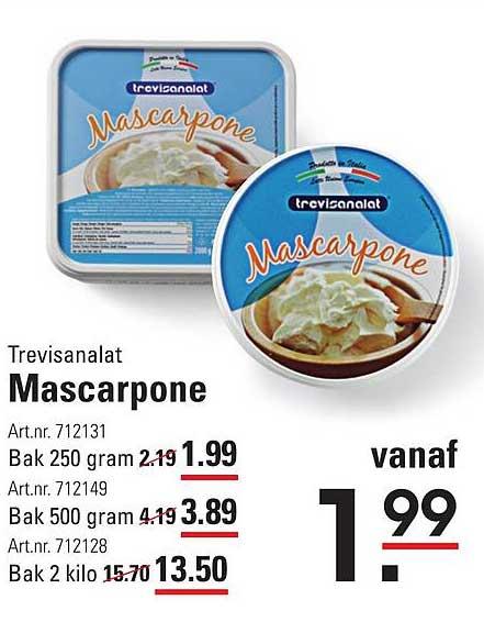 Sligro Trevisanalat Mascarpone