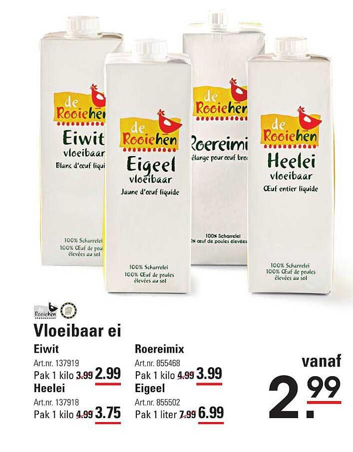 Sligro Vloeibaar Ei Eiwit, Heelei, Roereimix Of Eigeel
