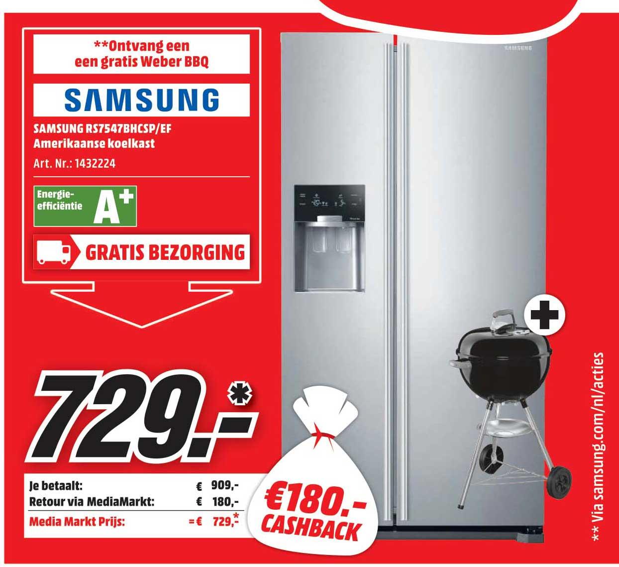 Mediamarkt Samsung RS7547BHCSP-EF Amerikaanse Koelkast