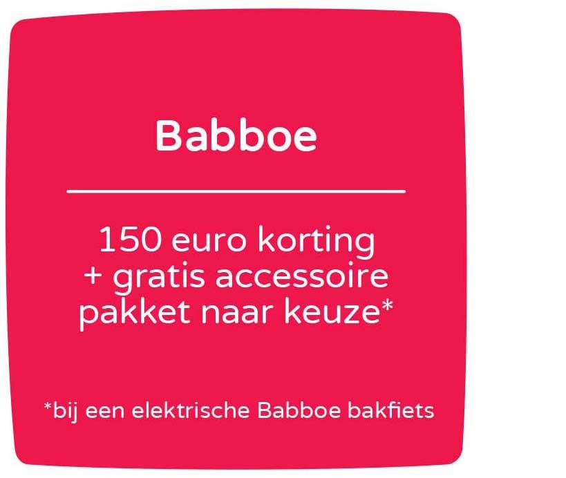 Prénatal Babboe 150 Euro Korting + Gratis Accessoire Pakket Naar Keuze
