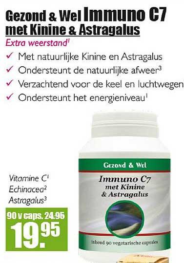 Gezond & Wel Gezond & Wel Immuno C7 Met Kinine & Astragalus
