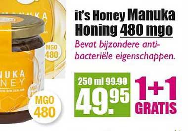 Gezond & Wel It's Honey Manuka Honing 480 Mgo