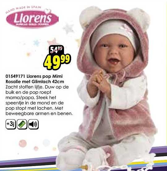 Toychamp Llorens Pop Mimi Rosalie Met Glimlach