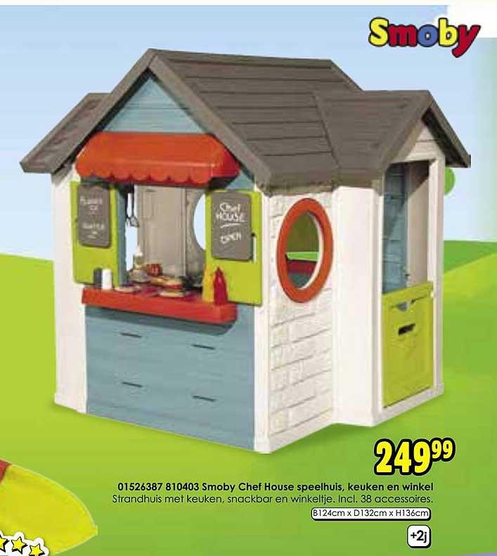Toychamp Smoby Chef House Speelhuis, Keuken En Winkel