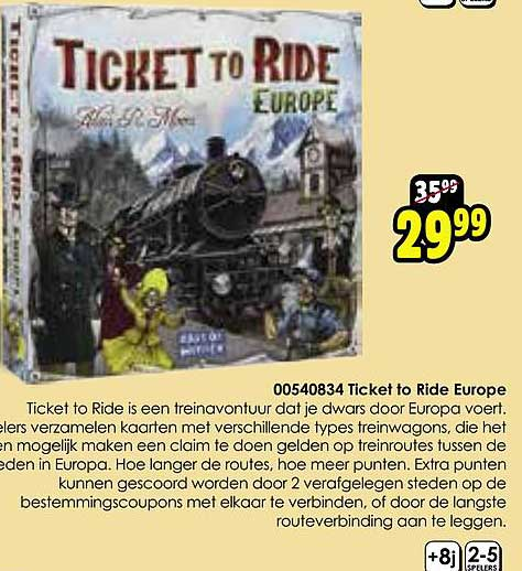 Toychamp Ticket To Ride Europe