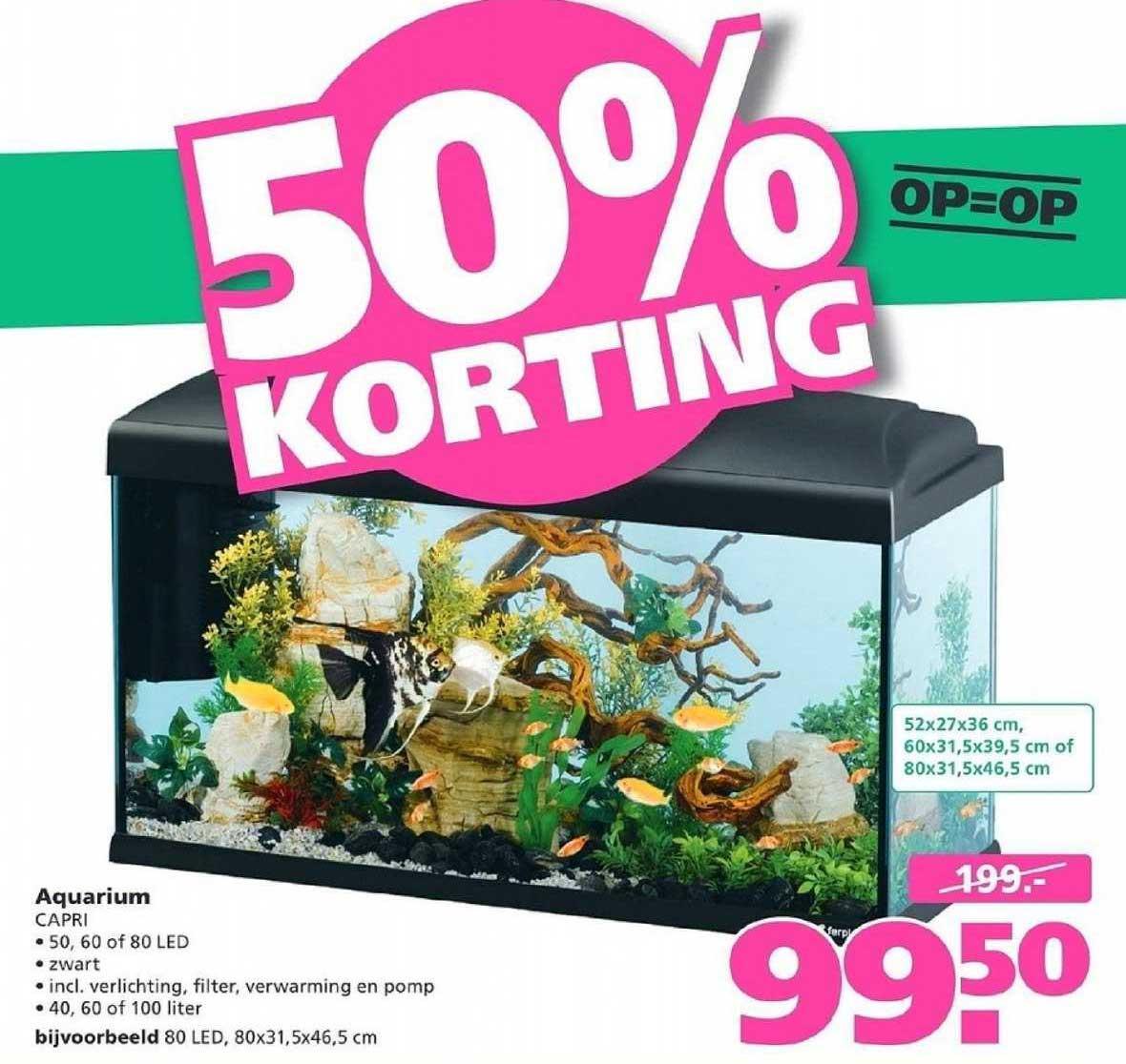 Ranzijn Tuin & Dier Aquarium 50% Korting